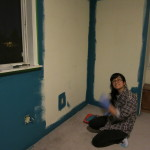 Mid-painting our living room